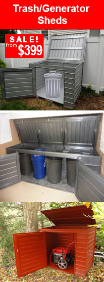 trash generator sheds